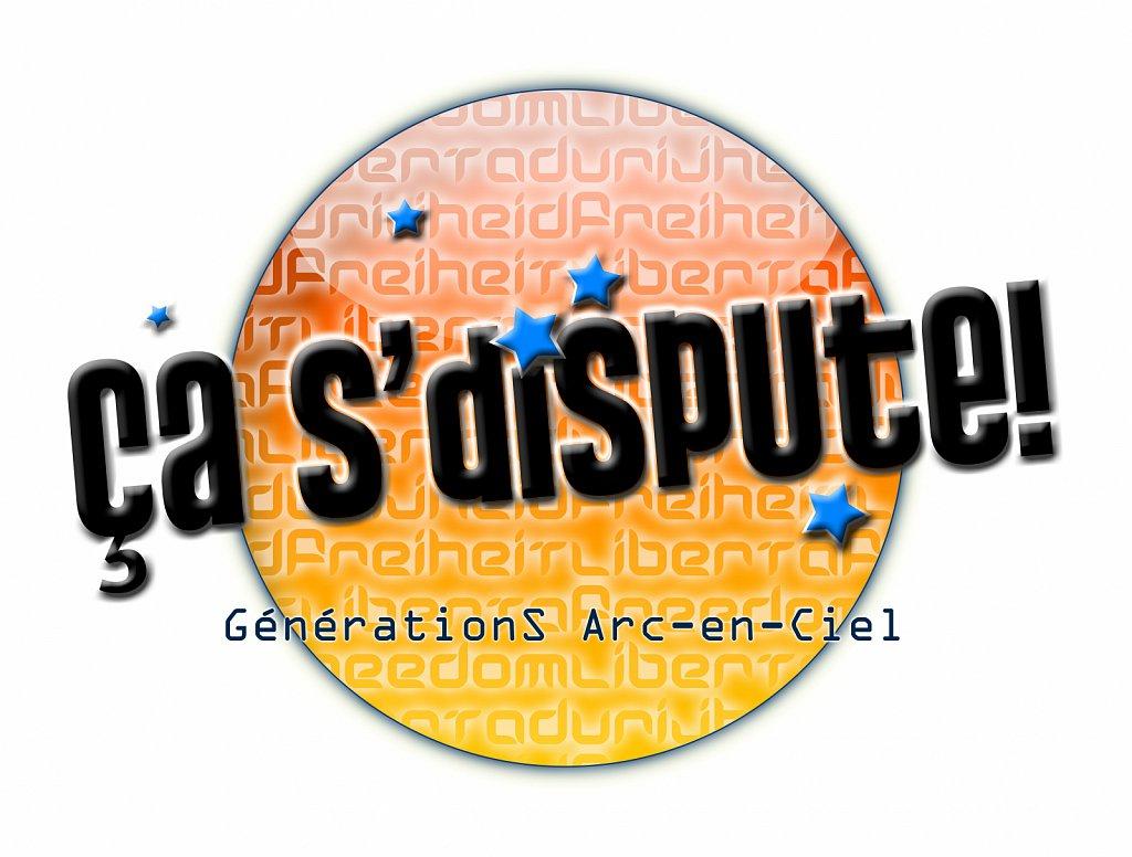 "Logo comédie musicale ""ça s'dispute"""