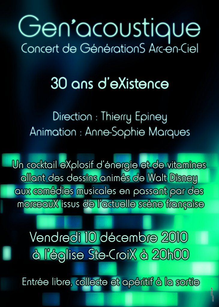 Flyer Concert Gen'acoustique (recto)