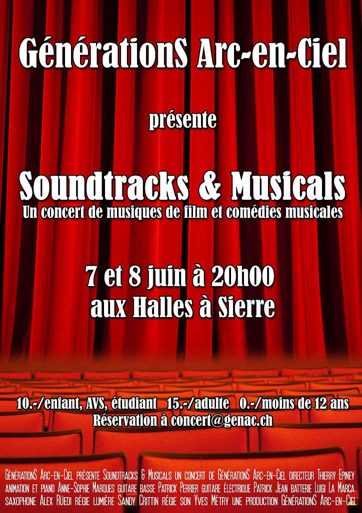 Flyer Concert Soundtracks (recto)