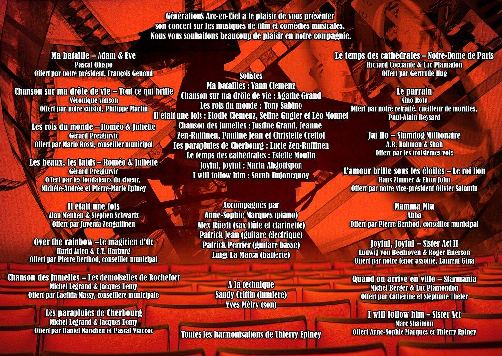 Programme Concert Soundtracks