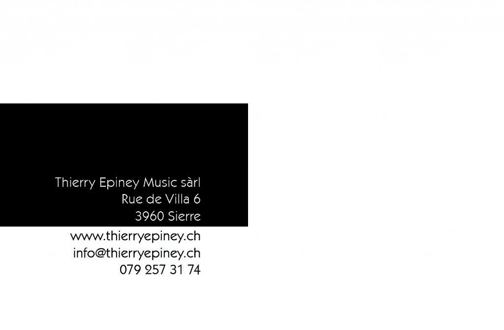 Carte de visite Thierry Epiney (verso)