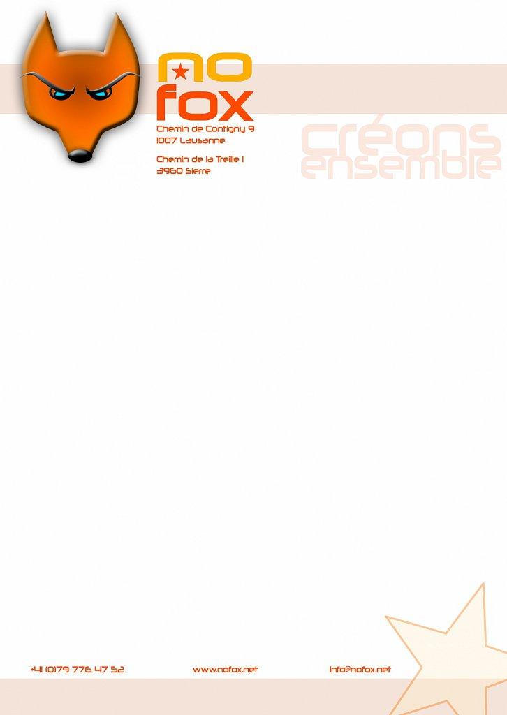 Papier à lettre NOFOX