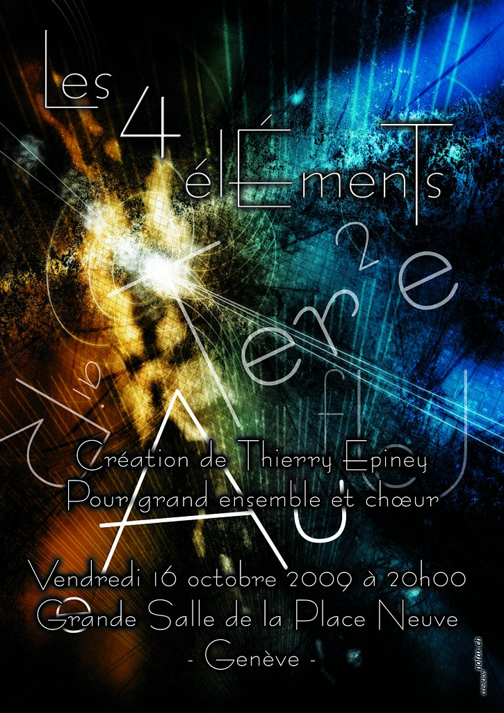 Flyer Les 4 Elements (verso)