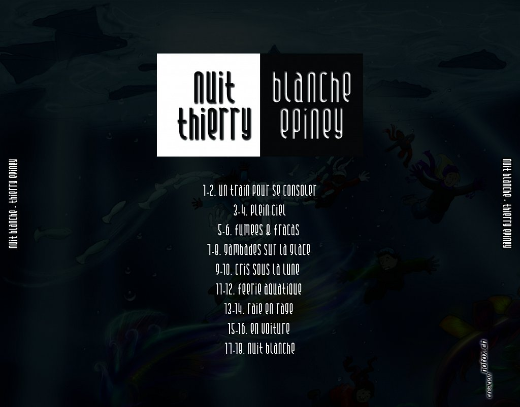Pochette CD nuit blanche (dos)