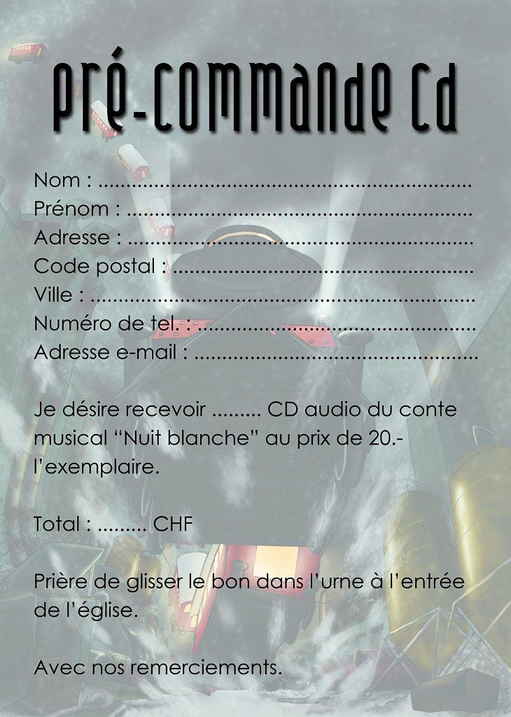 Carte de pré-commande CD Nuit Blanche (verso)